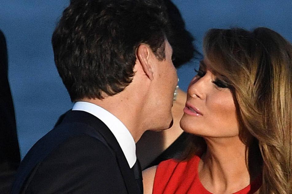 Romantisches Finale beim G7 in Biarritz: Melania Trump küsst Justin Trudeau!