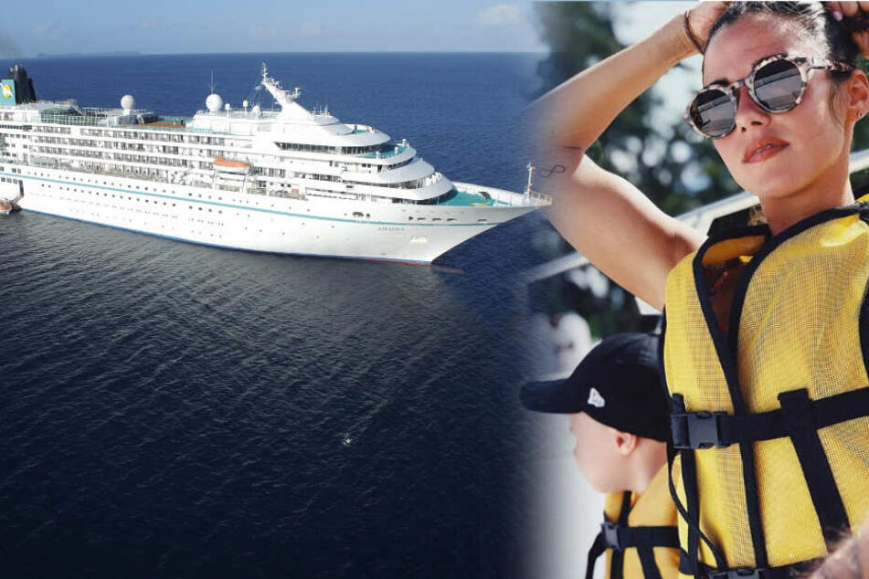 """Neue Aufgabe für Sarah Lombardi - auch Söhnchen Alessio ist mit an Bord des """"Traumschiffs"""" gekommen."""