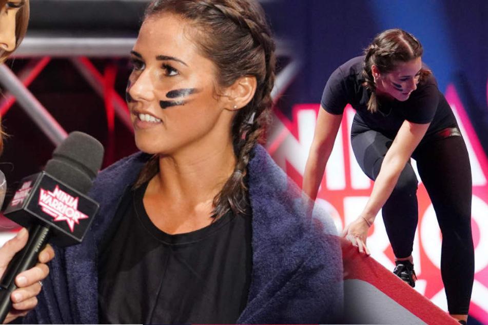 Oh nein, Sarah Lombardi rutscht bei Ninja Warrior aus, aber kämpft doppelt!