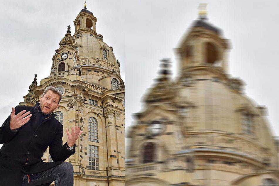 """Warum darf ich hier nicht protestieren?!"""" Pianist Arne Schmitt (46) wirft der Stadt vor, ihm sein Recht zu demonstrieren zu nehmen."""