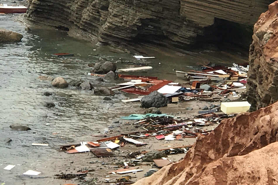 The suspected human smuggling boat crashed off the coat of Point Loma.