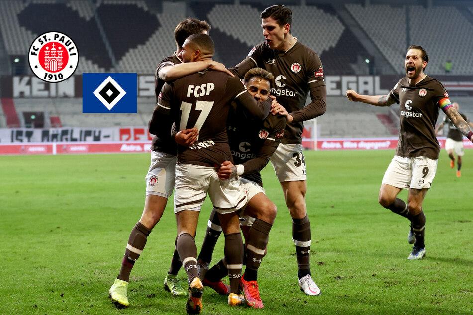 Euphorie beim FC St. Pauli, Frust beim HSV: Das Stadtderby im Rückblick!