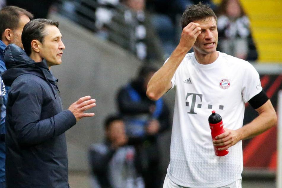 Der Stress rund um Thomas Müller (r.) war für Niko Kovac ein unnötiger Nebenkriegsschauplatz, der ihn Kredit bei der Mannschaft kostete.
