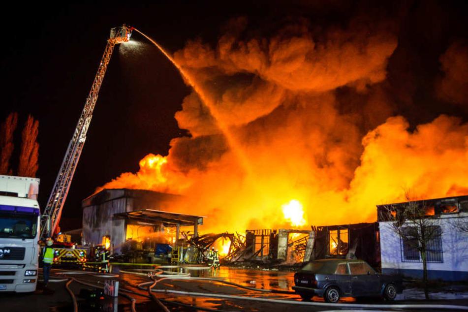 Gebäude niedergebrannt - MCV-Halle gerettet