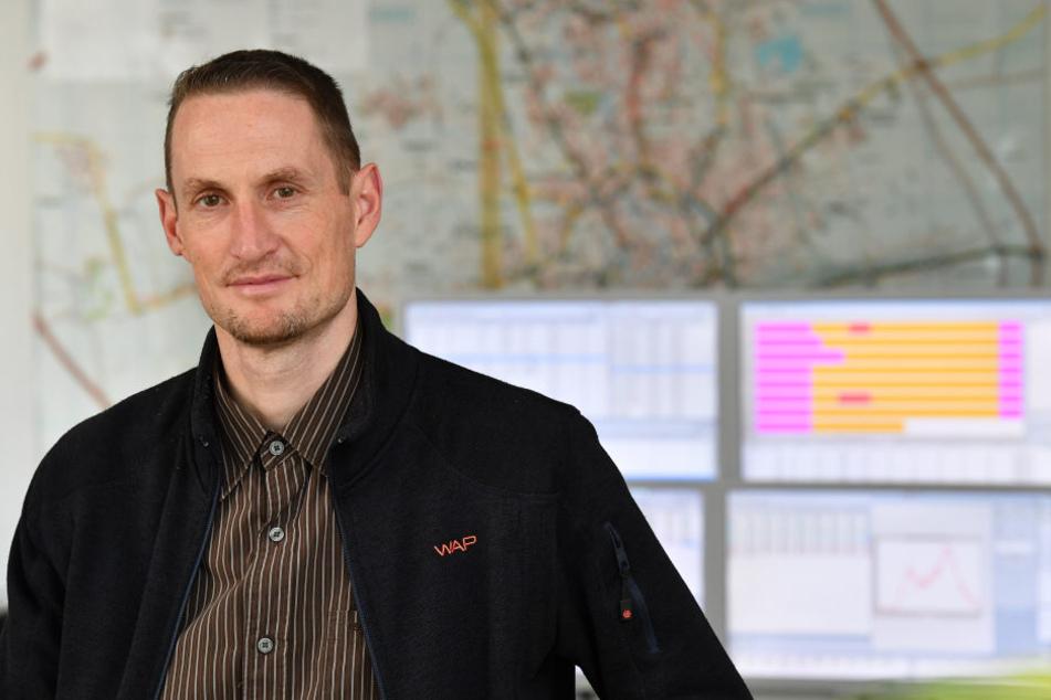 Frank Helbing ist dafür verantwortlich, ob Autofahrer in Erfurt eine grüne Welle haben.