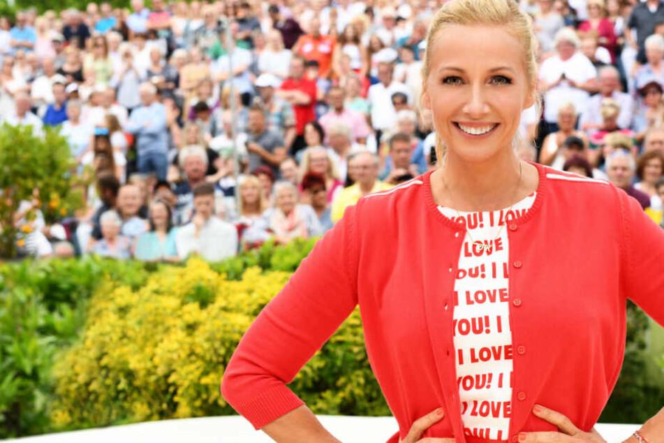 Andrea Kiewel ist die Moderatorin des ZDF-Fernsehgartens.