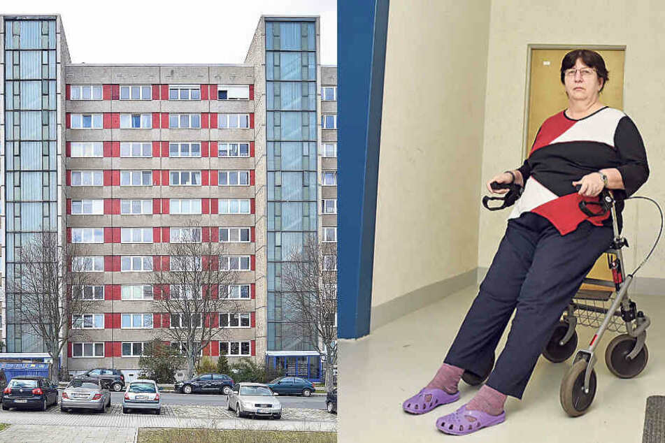 """Dresden: Behinderte Frau im Zehngeschosser von Vonovia """"gefangen"""": Aufzüge seit Tagen kaputt"""