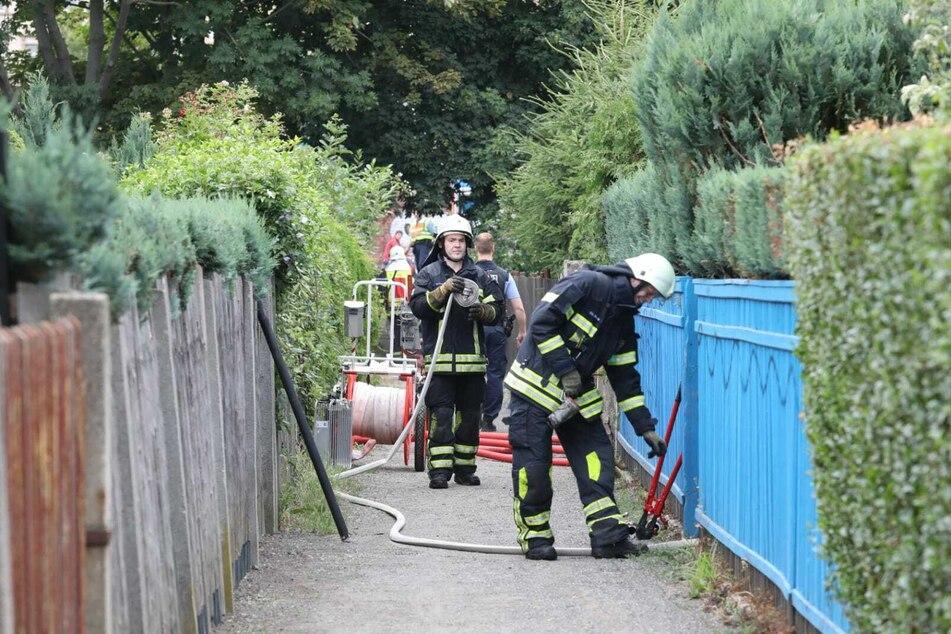 Anwohner hatten am Freitagmorgen eine Rauchsäule bemerkt und die Feuerwehr alarmiert.