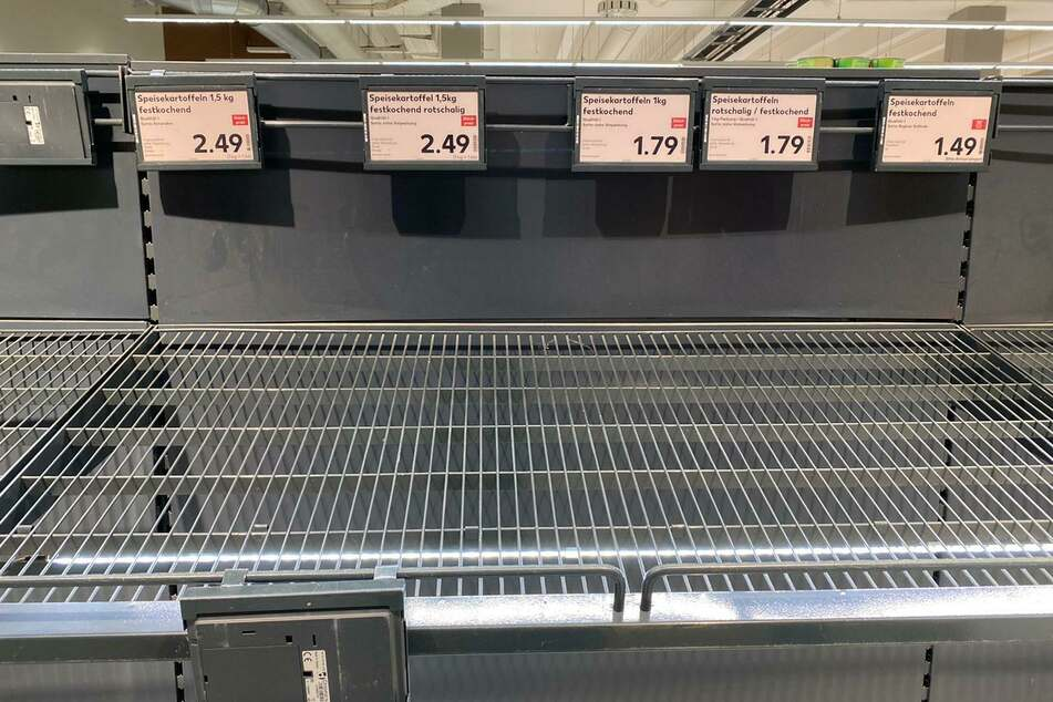 Keine Kartoffeln mehr im Kaufland.