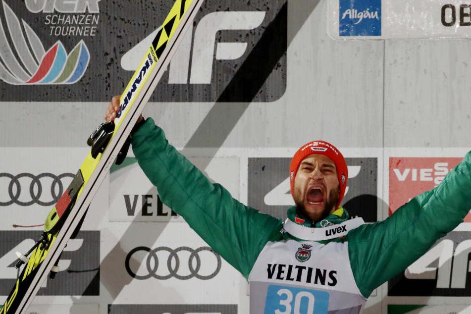 Markus Eisenbichler ist nach seinem zweiten Platz in Oberstdorf deutscher Hoffnungsträger.