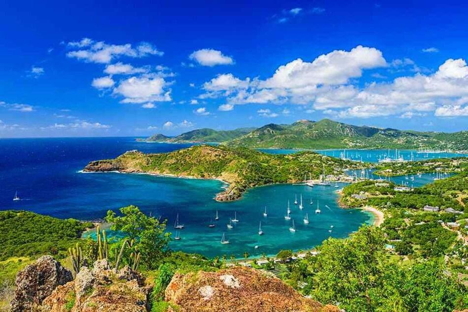 Malerisches Urlaubsparadies in der Karibik: Die Insel Antigua.