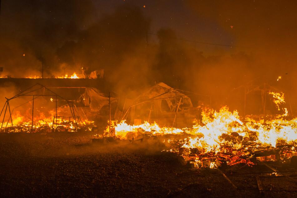 Das Lager von Moria war bei mehreren zeitgleichen Bränden fast vollständig zerstört worden.