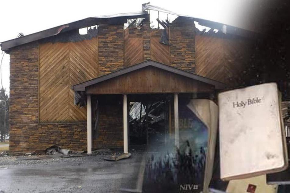 Feuerwehrleute fassungslos: Bibeln und Kreuze bleiben bei Kirchen-Brand völlig unversehrt