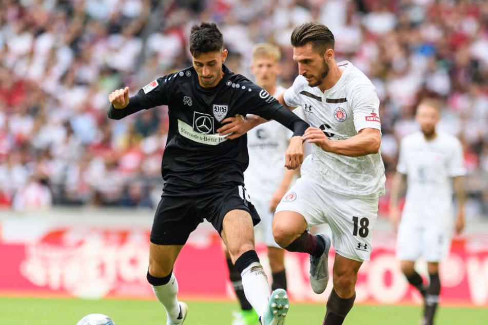 """Stuttgarts Mittelfeldspieler Atakan Karazor (links im Bild) über Nicolás González: """"Einfach ein geiler Typ!"""""""