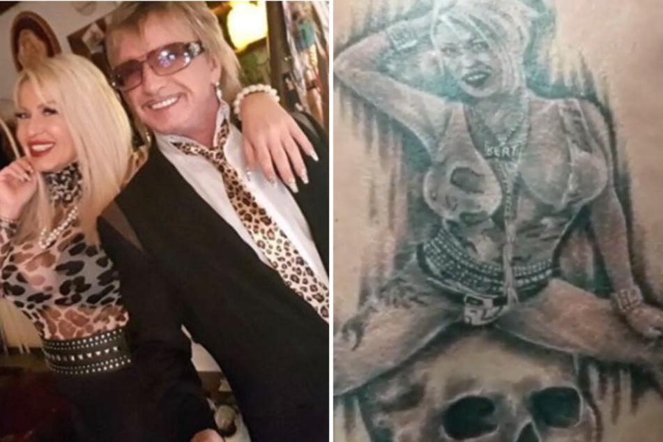 Bert Wollersheim und seine Ginger haben sich Liebves-Tattoos stechen lassen.