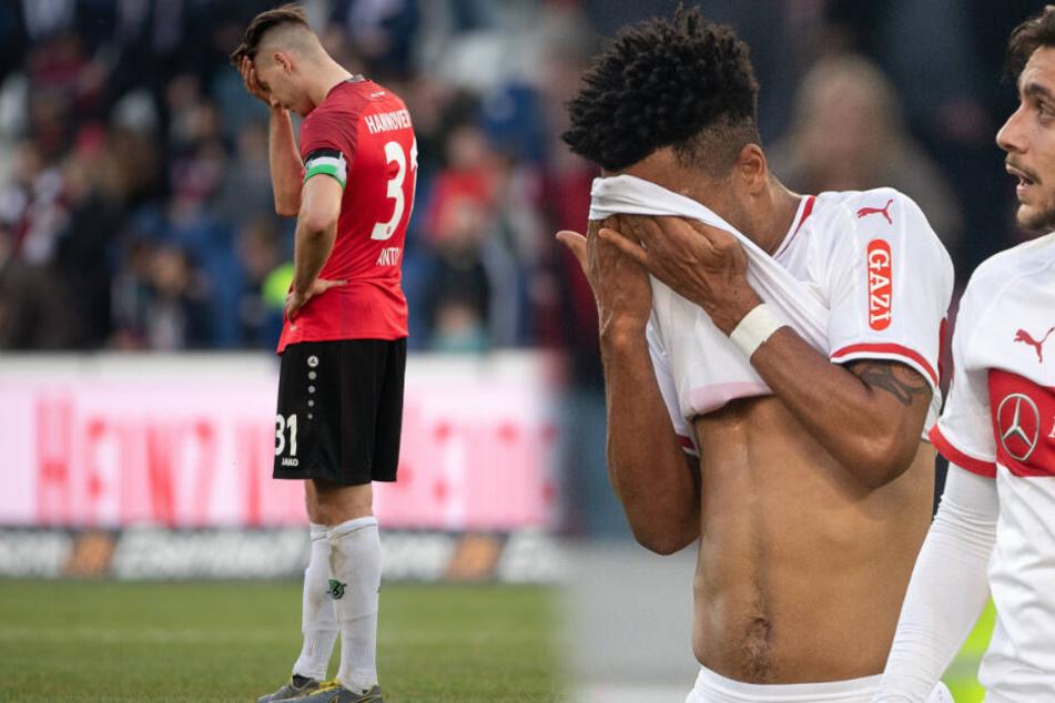 Hannover 96 und den VfB Stuttgart verbindet vor allem in den vergangenen Jahren dasselbe schwere Schicksal. (Bildmontage)