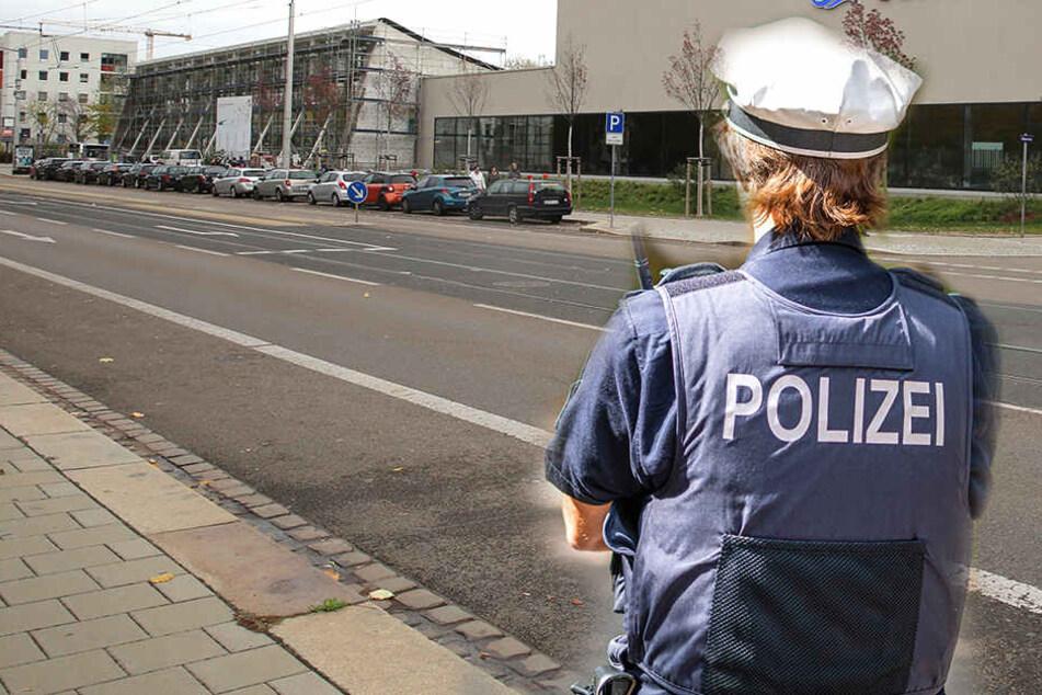 Die Untersuchungen zu dem Vorfall in der Wilsdruffer Vorstadt dauern an (Bildmontage).