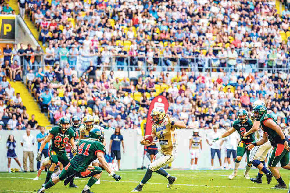 Trenton Norvell war einfach nicht zu halten. Der Dresdner Quarterback zeigte eine glänzende Vorstellung.