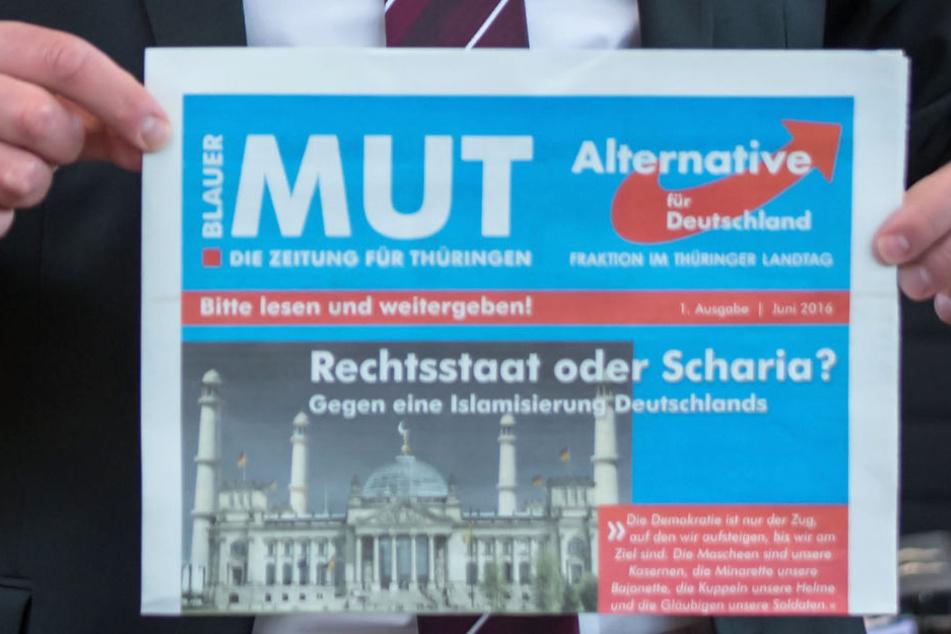Tausende AfD-Zeitungen mit Seifenlauge zerstört