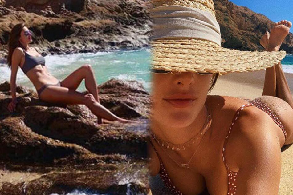 Sexy Urlaubsgrüße vom Strand: Wer lässt denn hier tief blicken?