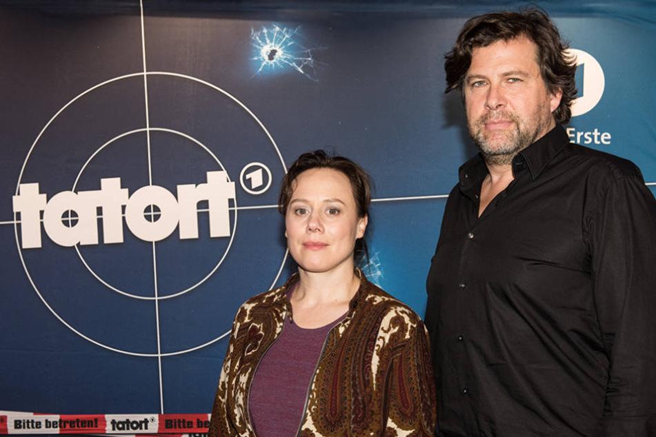 """Eva Löbau und Hans-Jochen Wagner sind das neue """"Tatort""""-Duo im Schwarzwald. (Foto: DPA)"""