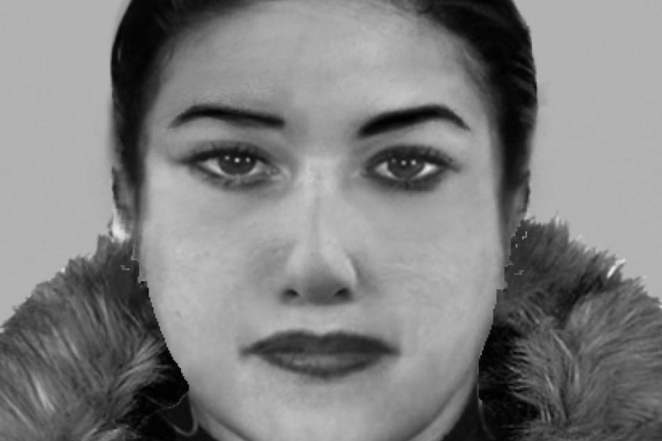 So sieht die gesuchte Frau auf dem Phantombild aus.
