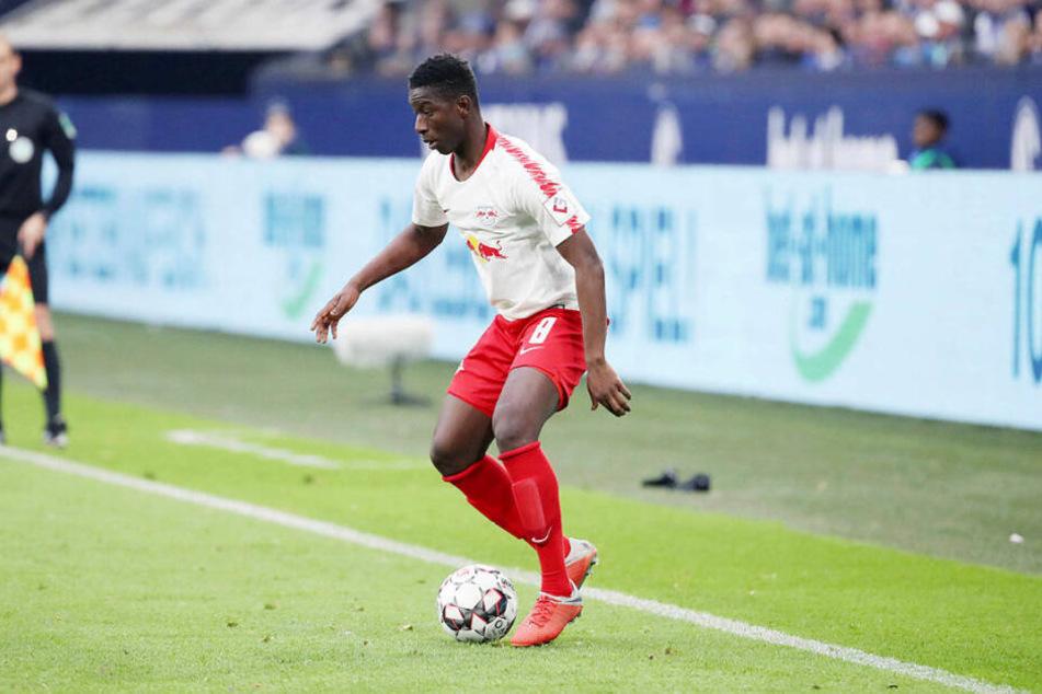Stand nach seiner Kreuzbandverletzung erstmals für RB Leipzig auf dem Platz: Winter-Neuzugang Amadou Haidara (21).