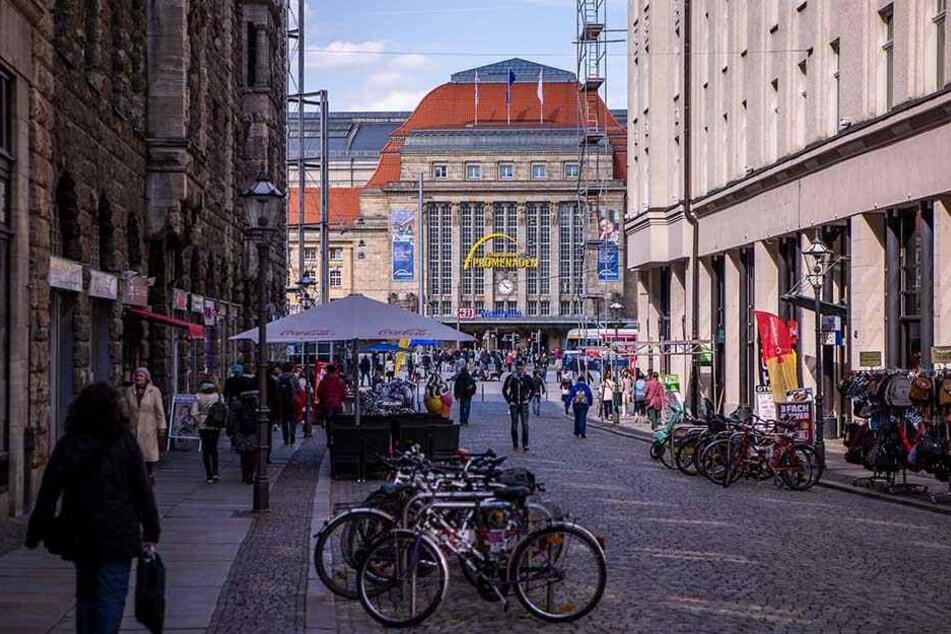 Die Nikolaistraße in Leipzig: Hier ereignete sich in der Nacht zum Mittwoch der Angriff - samt Gegenangriff.