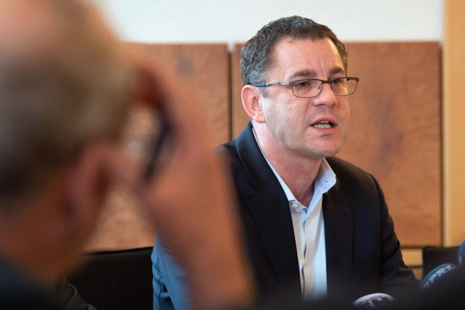Sven Gerich bei einer Pressekonferenz im Januar 2019.