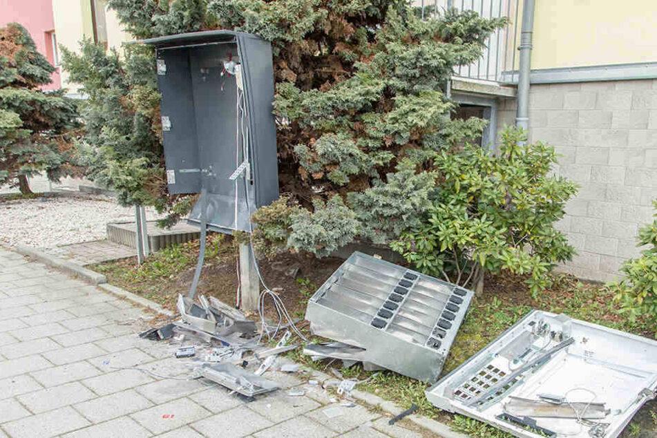 Auch in der Wittgensdorfer Straße wurde ein Automat gesprengt.