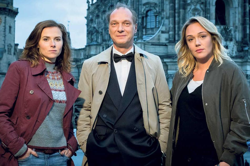 Entwickeln sich langsam zu Sympathieträgern (v. l.): Karin Hanczewski (35),  Martin Brambach (49) und Alwara Höfels (35).