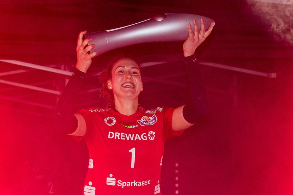 Barbara Wezorke konnte sich mit dem DSC in dieser Saison über den Pokalgewinn freuen.