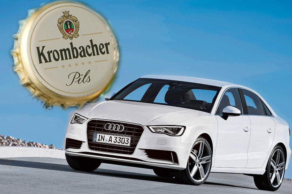 Im Krombacher-Gewinnspiel konnten 111 Audi A3 gewonnen werden.