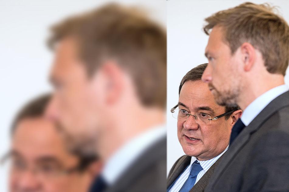 Der Landesvorsitzende der NRW-CDU, Armin Laschet (l.), und der FDP-Vorsitzende Christian Lindner.