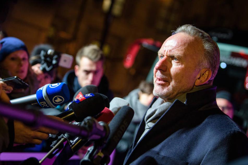 Karl-Heinz Rummenigge hielt sich mit Spekulationen über eine Rückkehr von Kahn zurück.