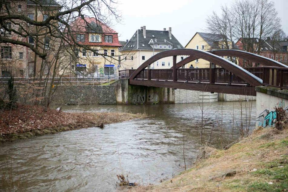 Am Zusammenfluss von Zwönitz und  Würschnitz wird's bei Starkregen besonders brenzlig.