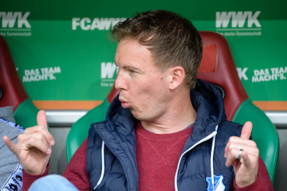 Hoffenheims Trainer Julian Nagelsmann veränderte seine Startformation gegenüber dem vergangenen Bundesligaspiel auf drei Positionen.