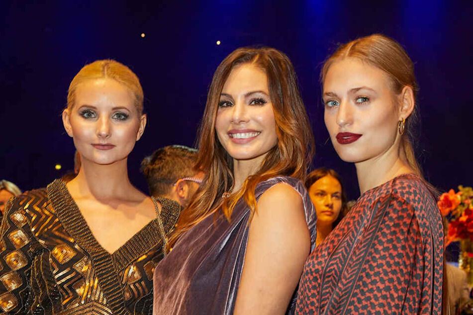 Die Models Anna Hiltrop, Dany Michalski und Cosima Auermann (v.l.)