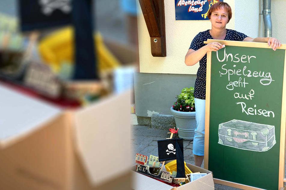Kita-Chefin Sylvia Weißflog (40) testet den Kindergarten ohne Spielzeug.
