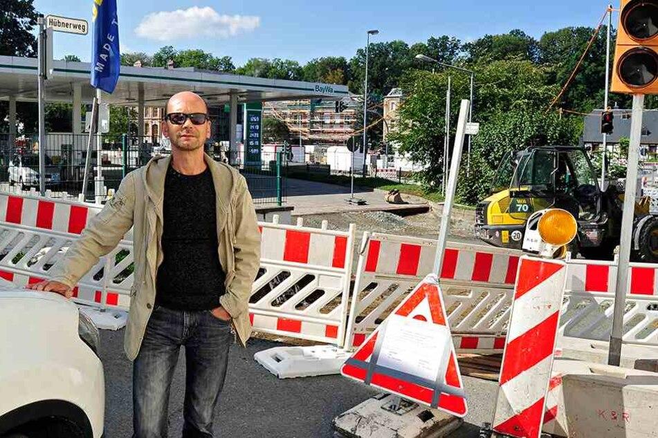 Chemnitz: Baustelle versperrt Anwohnern seit Tagen den Weg