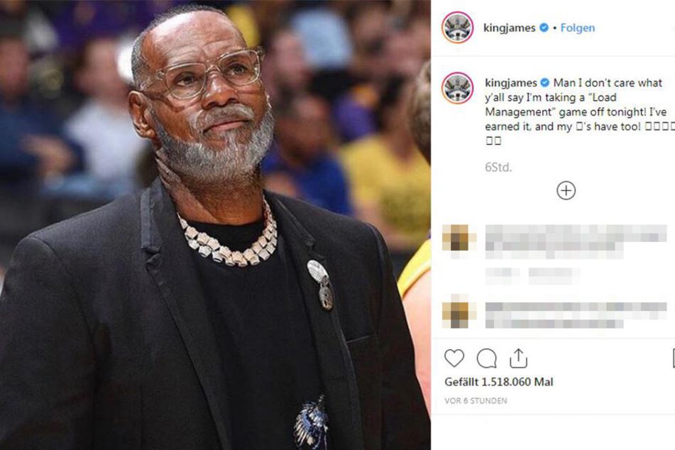 Basketball-Legende LeBron James.