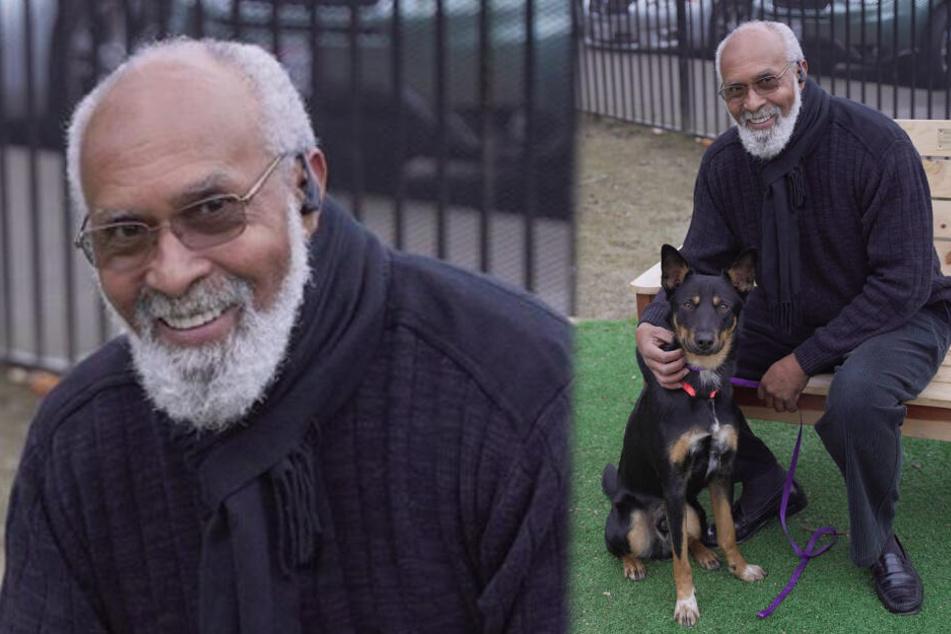 Ralph Johnson und sein Hund Cognac.