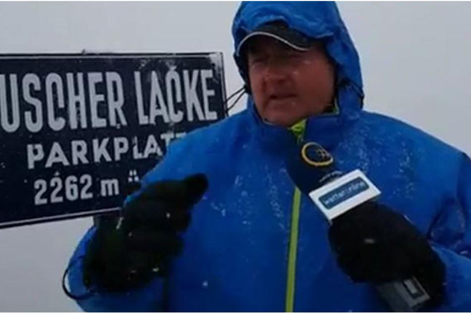 Andreas Stidl von Wetter Online war auf der verschneiten Grossglockner-Hochalpenstrasseunterwegs.