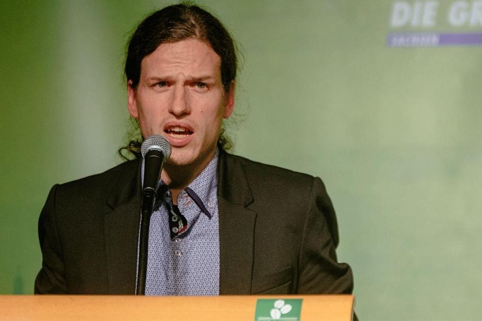 Grünen-Chef Jürgen Kasek (36) kann sich über einen Mitglieder-Rekord  freuen.