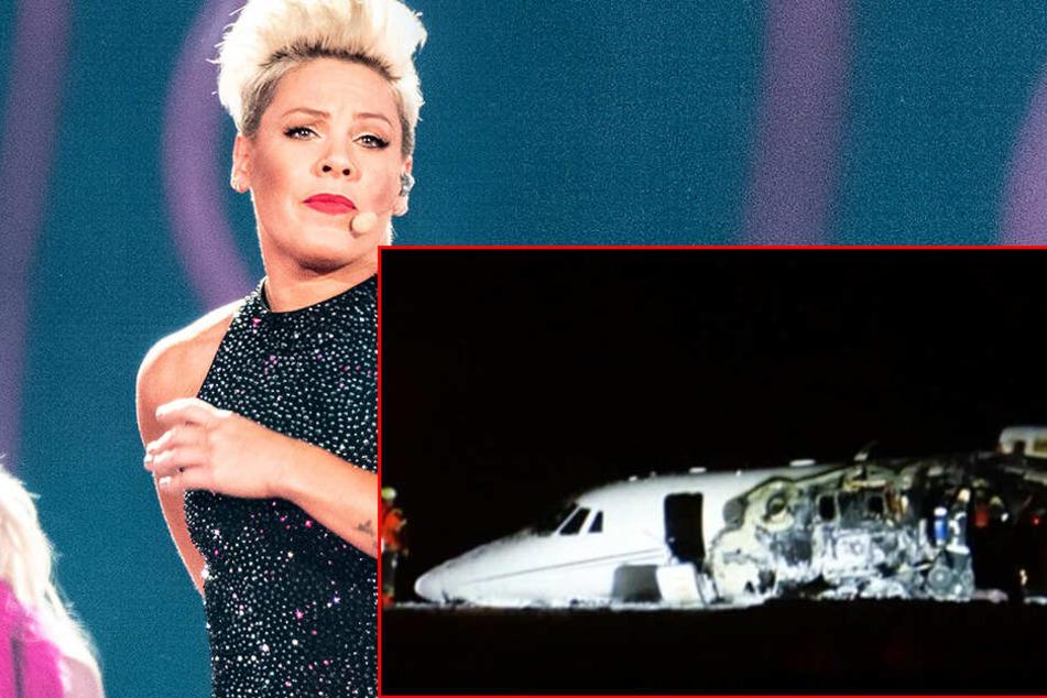 Schock für Sängerin Pink! Feuer bricht in Privatjet aus