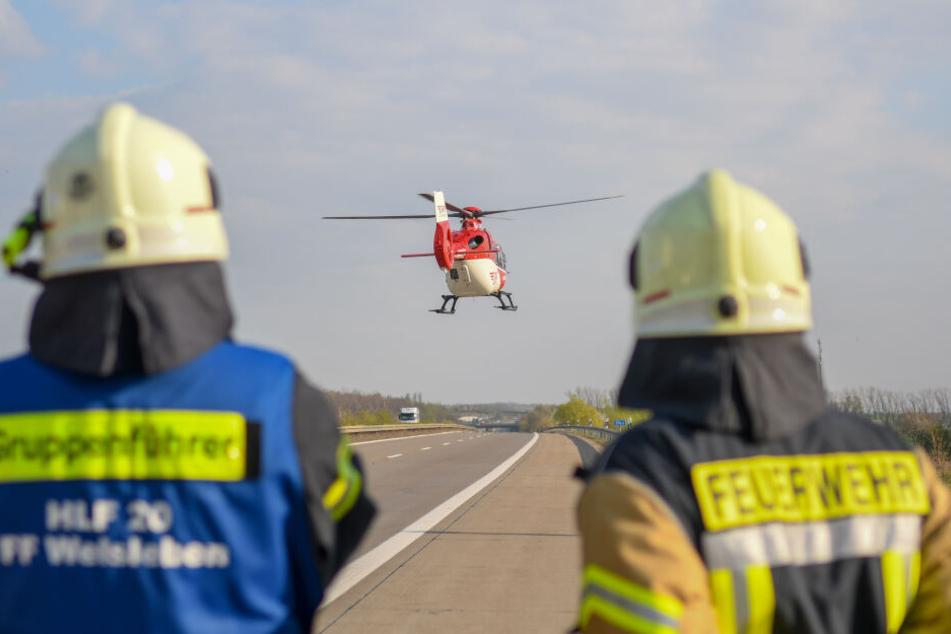 Der 37-Jährige musste mit einem Rettungshubschrauber ins Krankenhaus geflogen werden.