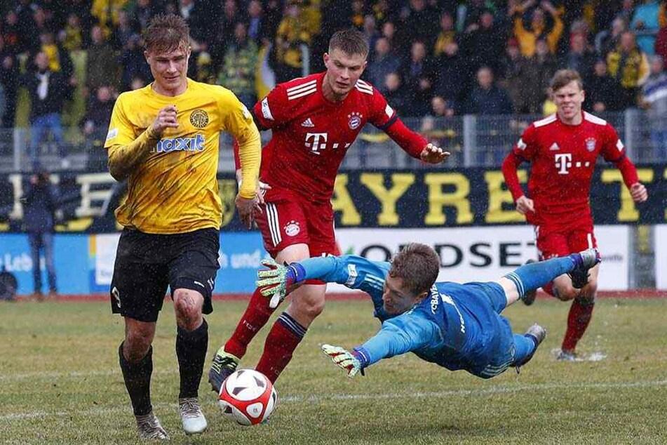 Unter den Zuschauern bei der Regionalliga-Partie Bayreuth gegen Bayern II waren etwa 200 Dynamofans.