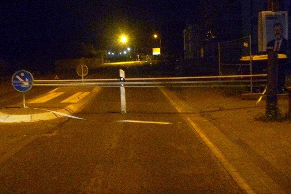 Unbekannte errichteten eine lebensgefährliche Straßensperre, die ein Notarzt nur knapp verfehlte.