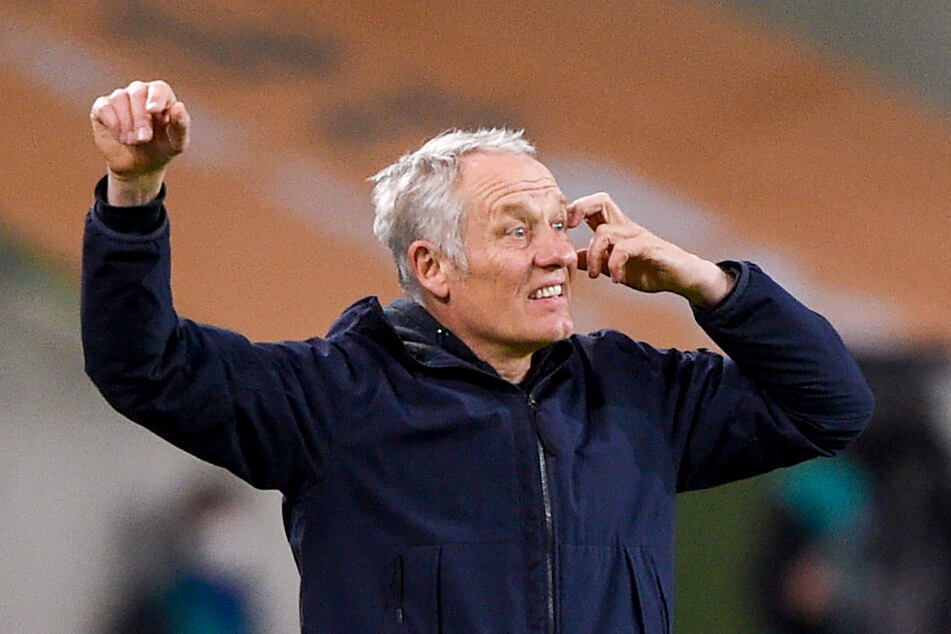 Coach Christian Streich (56) ist mit dem derzeitigen Kader des SC Freiburg zufrieden.
