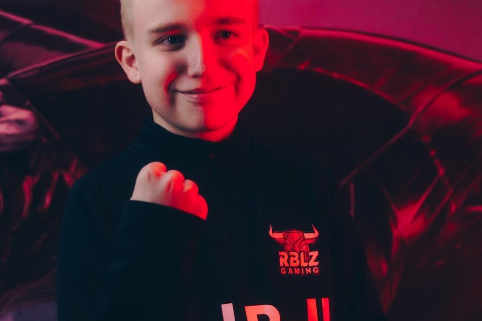 Anders Vejrgang (14) steht seit Sommer bei den Leipziger Rebelz unter Vertrag.